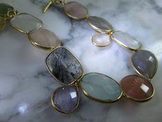 Edelstein Sets - Armband Mondstein Amethyst Charms Luxus Gold Ring - ein Designerstück von TOMKJustbe bei DaWanda