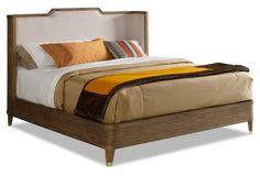 Henley Upholstered Bed, Natural