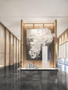 Dry Garden, Asian Restaurants, Commercial Design, Oversized Mirror, Reception, Interior Design, Regency, Furniture, Home Decor