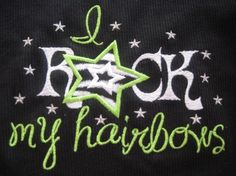 I Rock My Hairbows top by sweetnothingsdesigns on Etsy, $20.00