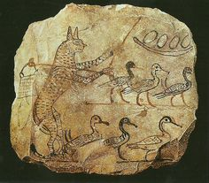 ostrakon z Deir El Medina 1291-1075 prz. Chr.