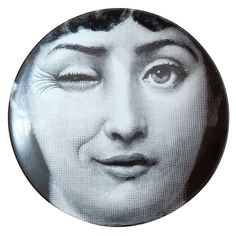 Vintage Plate by Piero Fornasetti, 1960s | From a unique collection of antique and modern dinner plates at https://www.1stdibs.com/furniture/dining-entertaining/dinner-plates/