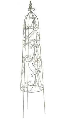 Buy Loire obelisk - Add some style to your garden with this attractive Loire obelisk.: Delivery by Crocus Gazebo On Deck, Pergola With Roof, Pergola Shade, Diy Pergola, Pergola Ideas, Greenhouse Shed, Small Greenhouse, Garden Deco, Garden Art