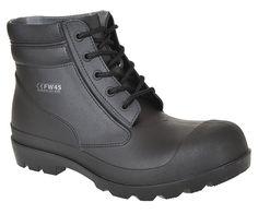 Portwest FW45BKR38 PVC Boot, S5, Regular, Size: 38, Black