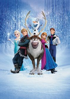 frozen cast clothes  | The main cast of Frozen from left to right: Elsa, Kristoff, Sven, Olaf ...