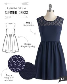 How to DIY a Summer Dress — Sew DIY                                                                                                                                                                                 More