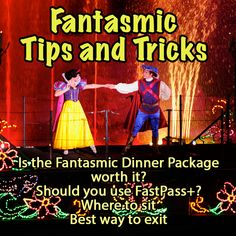 Tips and tricks for Fantasmic at Disney World HollyWood Studios - this is an awesome night show