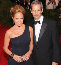 Katie Couric, who got engaged to her financier boyfriend of nearly two years, John Molner over the weekend, Girl Celebrities, Celebs, Katie Couric, Year Of Dates, Famous Couples, Never Too Late, Getting Engaged, Aging Gracefully, Other Woman