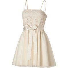 VALENTINO R.E.D. Ivory Cotton Lace Combo Dress - RED Valentino - Polyvore