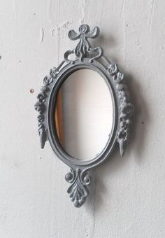 Small Wall Frame or Mirror in Vintage Dove Grey Frame - Upcycled Vintage on Etsy, $25.88 AUD