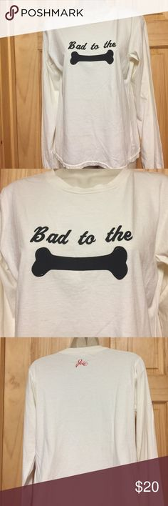 """NWT Joie """"Bad to the Bone"""" LS T New with tags. Bought at Bergdorf Goodman Joie Tops Tees - Long Sleeve"""
