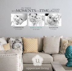 Moments in time. New expression added with photo prints! #uppercaseliving #ulvinyl #momentsintime #photos #quotequeen