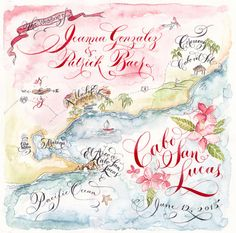 ❤︎ A custom made wedding map will be the darling of all your wedding stationery! ❤︎  …Uses include… •The finishing touch to your wedding invitation suite