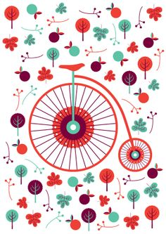 Colors / pattern / bike illustration