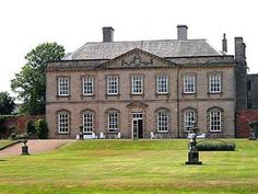 Melbourne Hall, Melbourne, Derbyshire - The elegant stone hall, part 17th century but with fine provincial 18th century facade, is famous as the home of Queen Victoria's prime minister, Lord Melbourne & for its outstanding garden built in the early 18th century in the style of Andre Le Notre. The house contains a grandly carved staircase & fine Stuart portraits & pictures by Lely and Dahl.