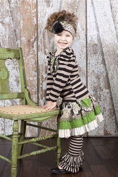 Mustard Pie Clothing - Ella Skirt in Evergreen Cream. Girls  BoutiqueBoutique ClothingMustardBabies ClothesChildren ...