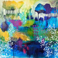 """Acrylic 2014 Painting """"A Years Growth"""" Flora Bowley, Wow Art, Tree Art, Landscape Art, Painting Inspiration, Painting & Drawing, Amazing Art, Watercolor Art, Saatchi Art"""