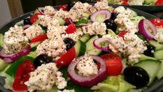 Griechischer Bauernsalat low carb