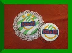 nell's lovely handmade stuff: Umgeben von Rapidfans... Cookies, Desserts, Handmade, Food, Birthday, Crack Crackers, Tailgate Desserts, Deserts, Hand Made