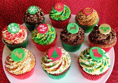 Resultado de imagem para cupcake de natal