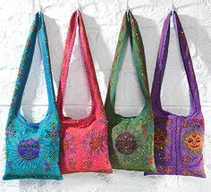 Embroidered indian hippy sun shoulder bag I need the blue