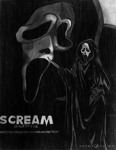 A quick fan drawing of the killer commonly known as Mr. Ghostface from the Scream horror series. Description from pinterest.com. I searched for this on bing.com/images