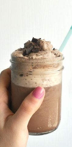 spiced frozen hot chocolate