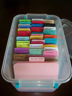 Here is a quick look at how I store my embossing folders. I got this idea and .cut file from Okieladybug . I bought my box at Walmart...