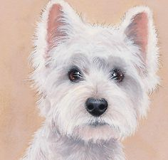 "westie drawings free | Westie""So Beautiful"" Limited Edition Art Print of Original Painting ..."