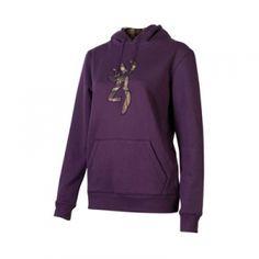 Browning Misses' Buckmark Camo Sweatshirt - Purple - Mills Fleet Farm