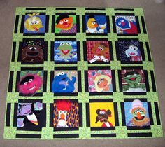 My Muppet Quilt is FINALLY complete!! (very picture heavy) - QUILTING