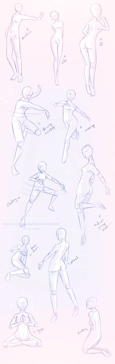 How to Draw the Human Body - Study: Female Poses for Comic / Manga Character Reference