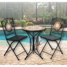 Superbe Mosaic Bistro Table Sets | The Europa Villena Mosaic Bistro Table (click To  Enlarge) | Mosaic/ideas | Pinterest | Bistro Table Set, Mosaics And Garden  ...