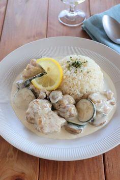 鶏とズッキーニのレモンクリーム煮込み バターライス添え by 松井さゆり | レシピサイト「Nadia | ナディア」プロの料理を無料で検索