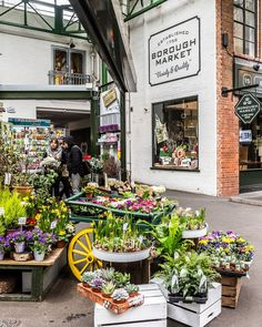 London's Borough Market is one of the city's biggest and most famous markets. It has everything from fresh produce to flowers for sale. #market #london #boroughmarket