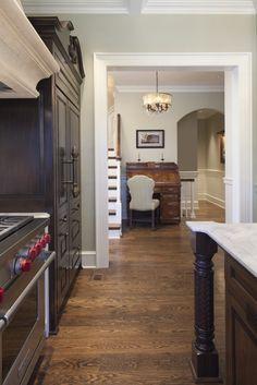 Marks favorite color for red oak flooring. Blended Walnut.