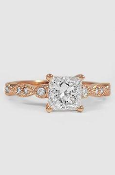 Rose Gold Tiara Diamond Ring