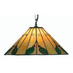 Oaks Tiffany Leaf Ceiling Pendant Light by Oaks Lighting