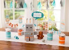Robot Themed Baby Shower
