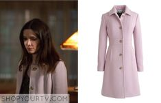 Grimm (Juliette - s04e12) - J.Crew Double-Cloth Lady Day Coat with Thinsulate® in Misty Lilac - $378