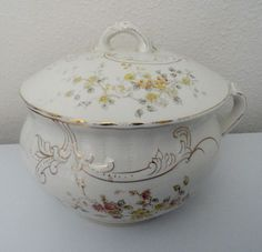 Antique LaBelle Wheeling Pottery Chamber Pot #WheelingPotteries