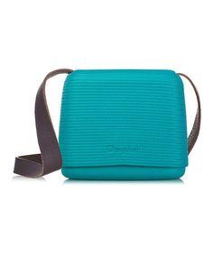 Look at this #zulilyfind! Water Blue Brown Leather Strap O Pocket Shoulder Bag #zulilyfinds