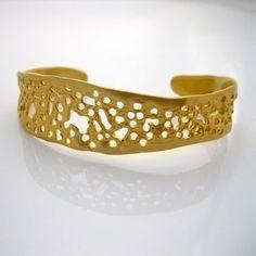 Louise Douglas | Gold Sea Lace Cuff | Handmade + beautifully organic