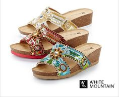 Embellish your feet and take your sandals from day to night. Embellished footwear flatters feet with eye-catching patterns, beading and more.