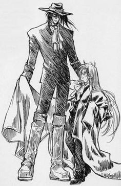 Alucard & little Integra, Hellsing