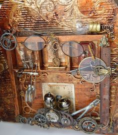 Interior Altered Radio 7gypsies steampunk gears and metals