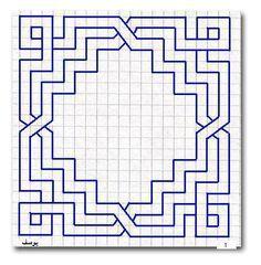 Geometric pattern, no curves, symmetrical Motifs Blackwork, Blackwork Embroidery, Embroidery Patterns, Cross Stitch Patterns, Graph Paper Drawings, Graph Paper Art, Geometric Drawing, Geometric Art, Geometric Patterns