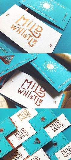 Beautiful Typography Turquoise And Gold Letterpress Business Card