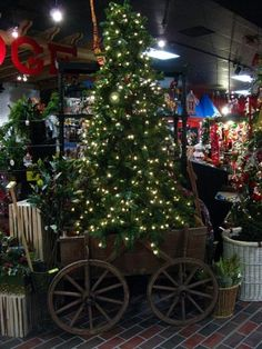 Christmas tree in a wagon - so country! by Roxyduo