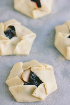 pear + blackberry tartlets   the vanilla bean blog